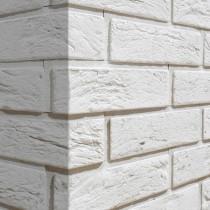 BOSTON 2 WHITE NAROŻNIK - Kamień elewacyjny / dekoracyjny z fugą