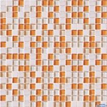 MOZAIKA MSK-10 ORANGE MIX SZKLANO-KAMIENNA 30.5X30.5X.7 G1
