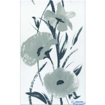 NERO WHITE FLOWER DEKOR 25X40 G1