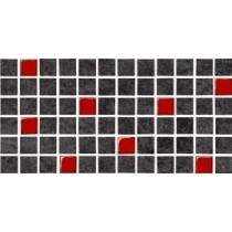 KAROO GRAPHITE GLASS GRES MOSAIC 14.7X29.7 G.1