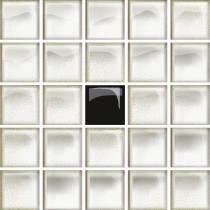 GLASS WHITE/BLACK A MOSAIC NEW 14.8X14.8 G1