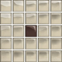 GLASS BEIGE/BROWN A MOSAIC NEW 14.8X14.8 G1
