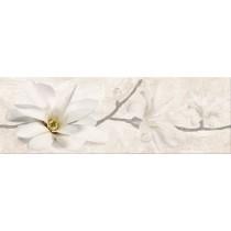 STONE FLOWERS BEIGE DEKOR POŁYSK 25X75 Gat 1