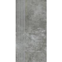 Scratch Nero Stopnica Prosta Mat. 29,8x59,8 Gat.1