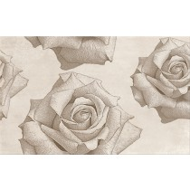 Rosita Cream Inserto Flower dekor 25x40 gat 1