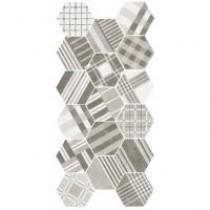 HEXATILE CEMENT GEO GREY 17.5X20