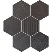 Horizon Hex Black Mozaika 28,9x22,1 Gat 1