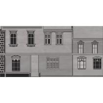 CITY GREY HOUSE B DEKOR 29,7X60 Gat 1