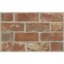 Loft Brown Sciana Struktura Brick 25x40 Gat.1