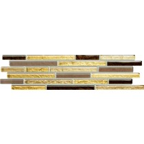 VENATELLO BROWN MOSAIC LISTWA 37,2X9,8 GAT.1