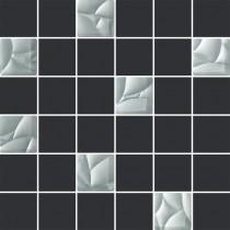 ESTEN GRAFIT/SILVER MOZAIKA CIETA K.4,8X4,8 29,8X29,8 GAT.1