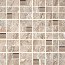 Aurora Beige Ciemna Szkło Mozaika 30x30 Gat. 1