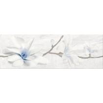 Stone Flowers Grey Inserto dekor 25x75 gat 1
