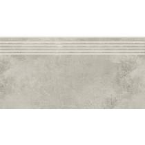 Quenos Light Grey Steptread stopnica 29,8x119,8 Gat. 1