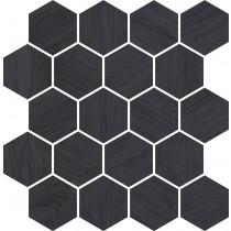 Taiga Grafit Wood Mozaika Cieta 25,8x28 Gat.1