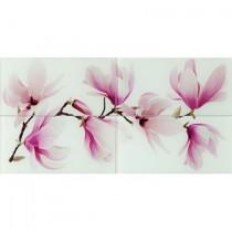 TANGO FLOWER OBRAZ SZKLANY 4-ELEMENTOWY 44,8X89,9