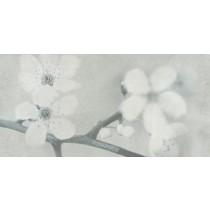 EARLY PASTELS GREY FLOWER GRES SZKLIWIONY MAT 29X59.3 G1