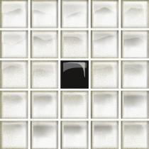 GLASS WHITE/BLACK A MOSAIC NEW 14.8X14.8 G1