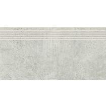Newstone Light Grey Steptread gres stopnica 29,8x59,8 gat. 1