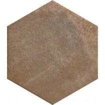 Scandiano Rosso Heksagon 26x26 gat 1