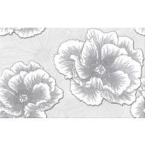 Ferrata Grey Inserto Flower dekor 25x40 gat 1