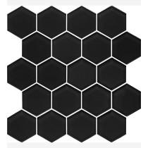 Mozaika szklana Nero Heksagon 22x25,5 Gat. 1