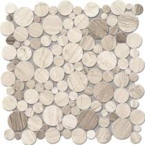 Drops Stone Grey Circle Mozaika 30,5x30,5 GAT. 1